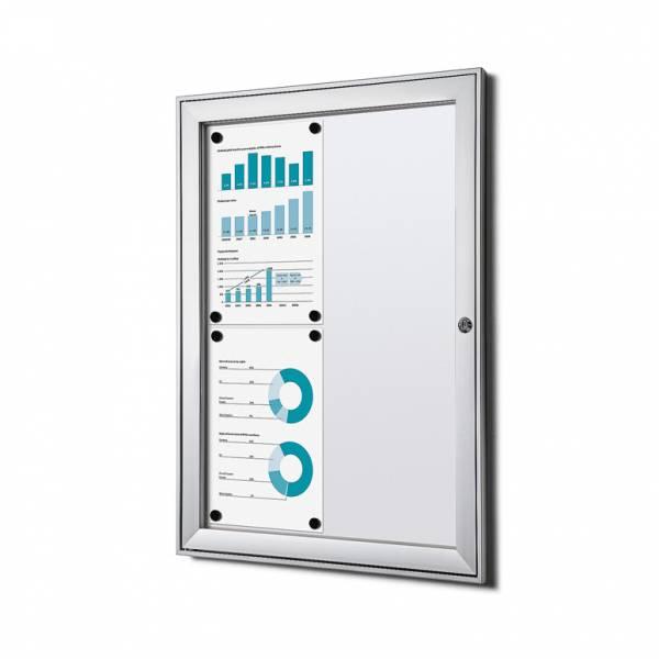 Informačná vitrína Economy 4xA4, plechová zadná stena, atest B1
