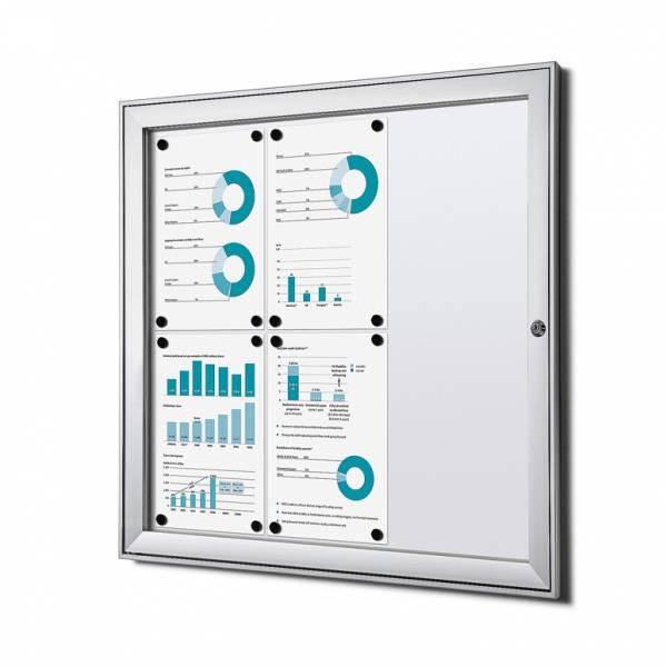 Informačná vitrína Economy 6xA4, plechová zadná stena, atest B1