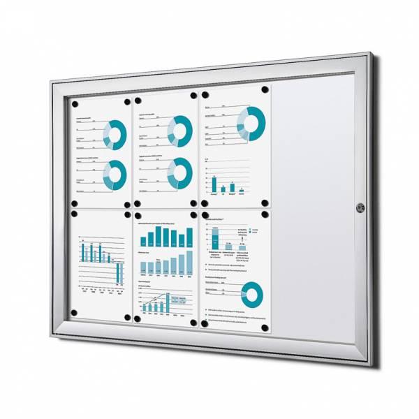 Informačná vitrína Economy 8xA4, plechová zadná stena, atest B1