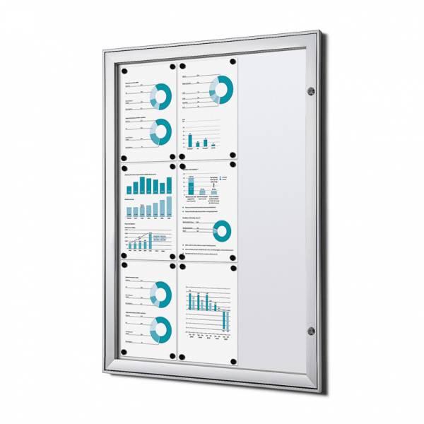 Informačná vitrína Economy 9xA4, plechová zadná stena, atest B1