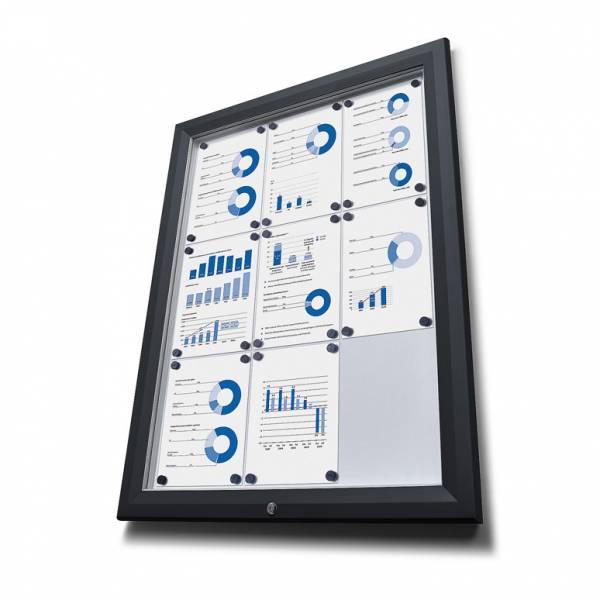Exteriérová vitrína typu T, rozmer 8xA4, RAL 9005, čierna