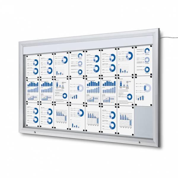 Exteriérová vitrína typu T, rozmer 24xA4, LED osvetlenie