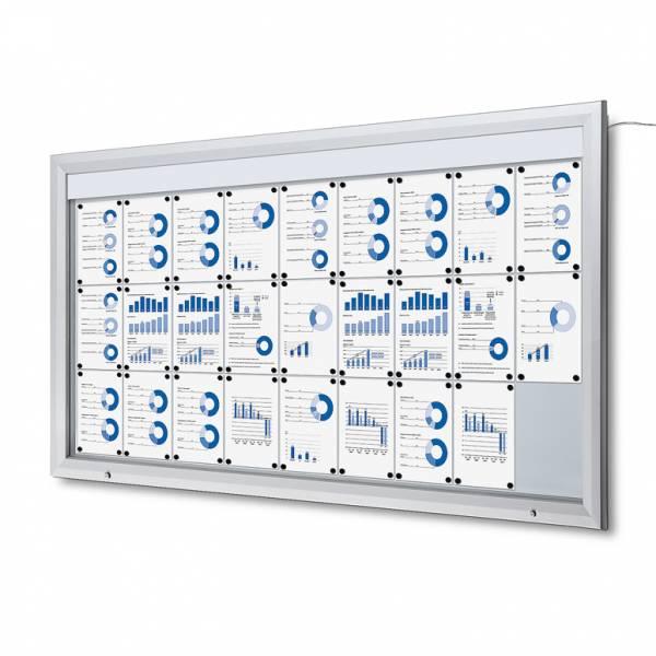 Exteriérová vitrína typu T, rozmer 27xA4, LED osvetlenie