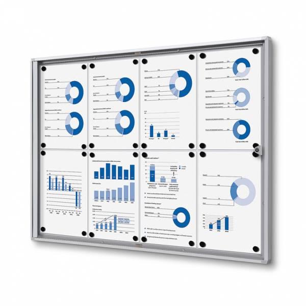 Interiérová vitrína Economy 8xA4 - plechová zadná stena