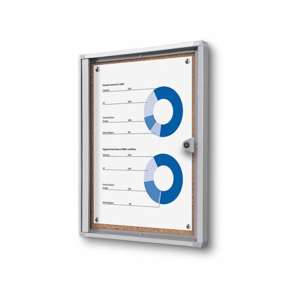 Interiérová vitrína Economy 1xA4 - korková zadná stena