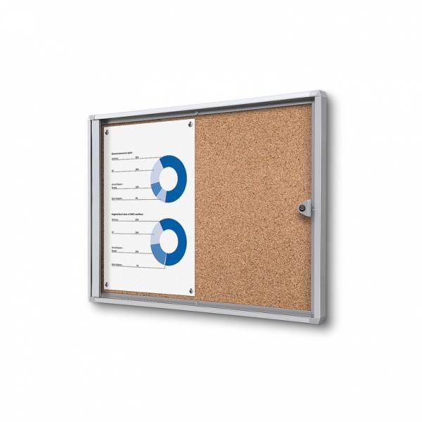 Interiérová vitrína Economy 2xA4 - korková zadná stena