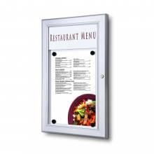 Exteriérová uzamykateľná menu vitrína