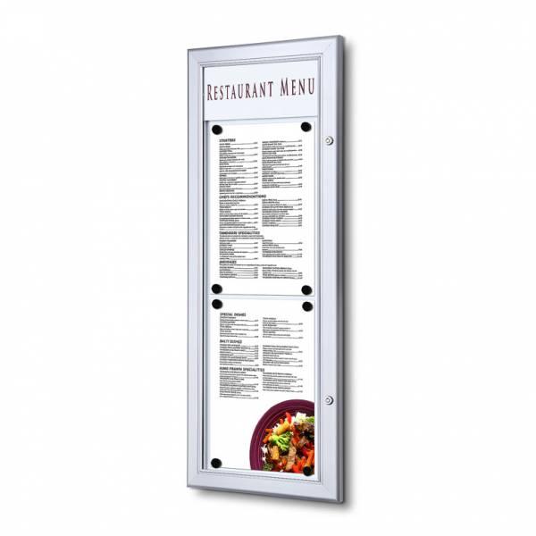 Exteriérová menu vitrína 2xA4 na výšku