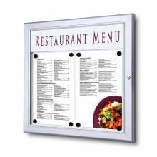 Exteriérová menu vitrína 2xA4