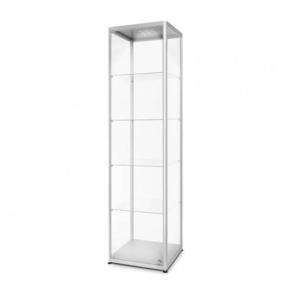Skleněná produktová vitrína VR2 - 500x2000x500mm, LED
