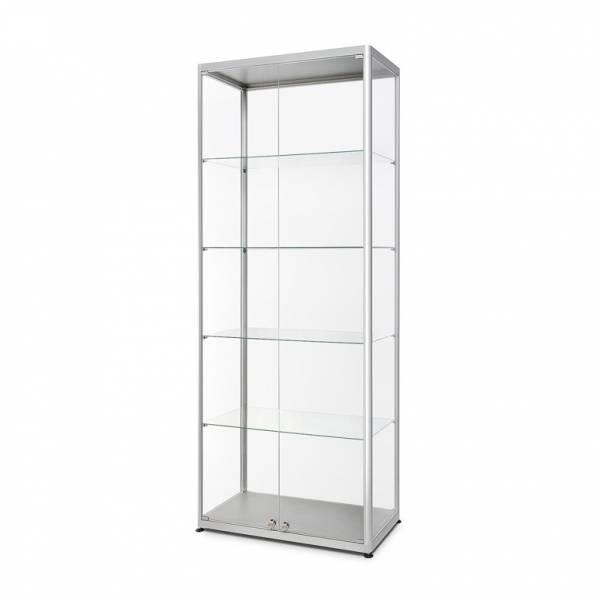 Sklenená produktová vitrína VR2 -800x2000x400 mm, 2-krídlové dvere