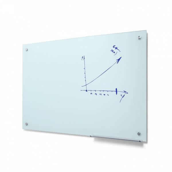 Popisovateľná sklenená tabuľa, mliečna, 90x120 cm