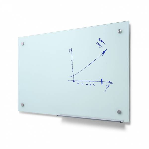 Popisovateľná sklenená tabuľa, mliečna, 90x60 cm