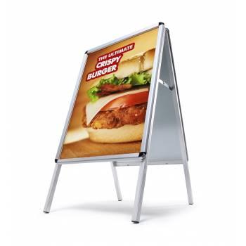 Reklamné áčko A1, oblý roh, profil 32mm, plechová zadná stena