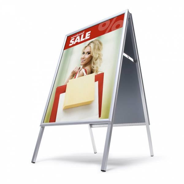 Interiérové reklamné áčko A2, ostrý roh, profil 25mm