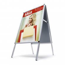 Interiérové reklamné áčko A1, oblý roh, profil 25mm