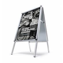 Reklamné áčko A2, oblý roh, profil 32mm, plechová zadná stena, zvýšená ochrana proti vplyvom počasia