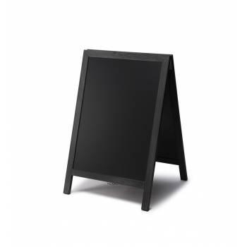 Drevené kriedové áčko s výsuvnými doskami 55x85, čierna