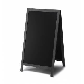 Reklamné drevené áčko s kriedovou tabuľou 68x120, čierna