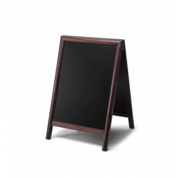 Reklamné drevené áčko s kriedovou tabuľou 55x85, tmavá hnedá