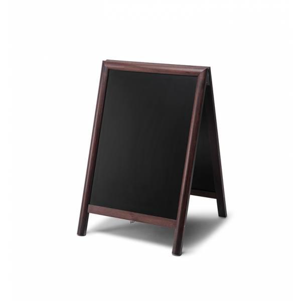 Reklamné drevené áčko s kriedovou tabuľou
