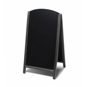 Drevené kriedové áčko s výsuvnými doskami 68x120, čierna