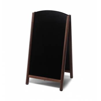 Drevené kriedové áčko s výsuvnými doskami 68x120, tmavá hnedá