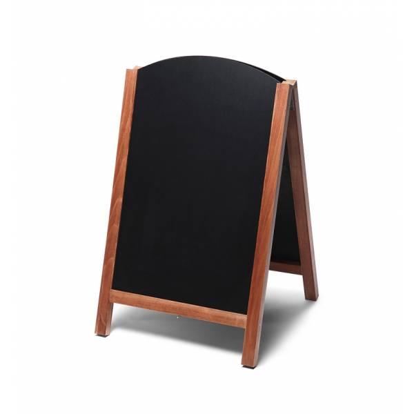 Drevené kriedové áčko s výsuvnými doskami 55x85, svetlá hnedá