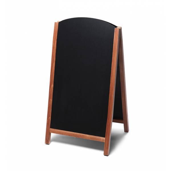 Drevené kriedové áčko s výsuvnými doskami 68x120, svetlá hnedá