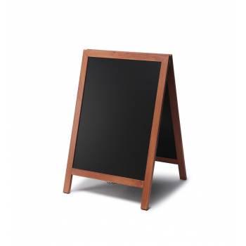 Reklamné drevené áčko s kriedovou tabuľou 55x85, svetlá hnedá
