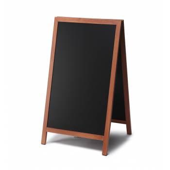 Reklamné drevené áčko s kriedovou tabuľou 68x120, svetlá hnedá